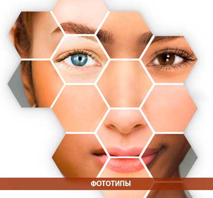 Таблица фототипов кожи